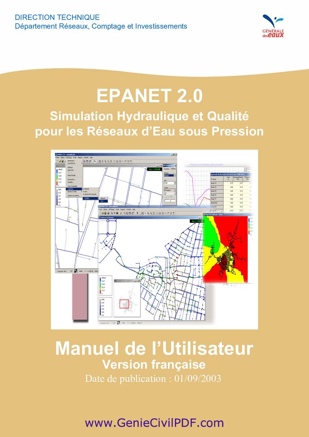 Guide d'utlisation du logiciel EPANET
