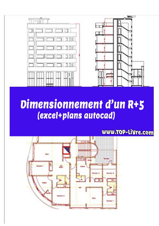 Dimensionnement R+5 avec excel et plans autocad – Rapport de stage