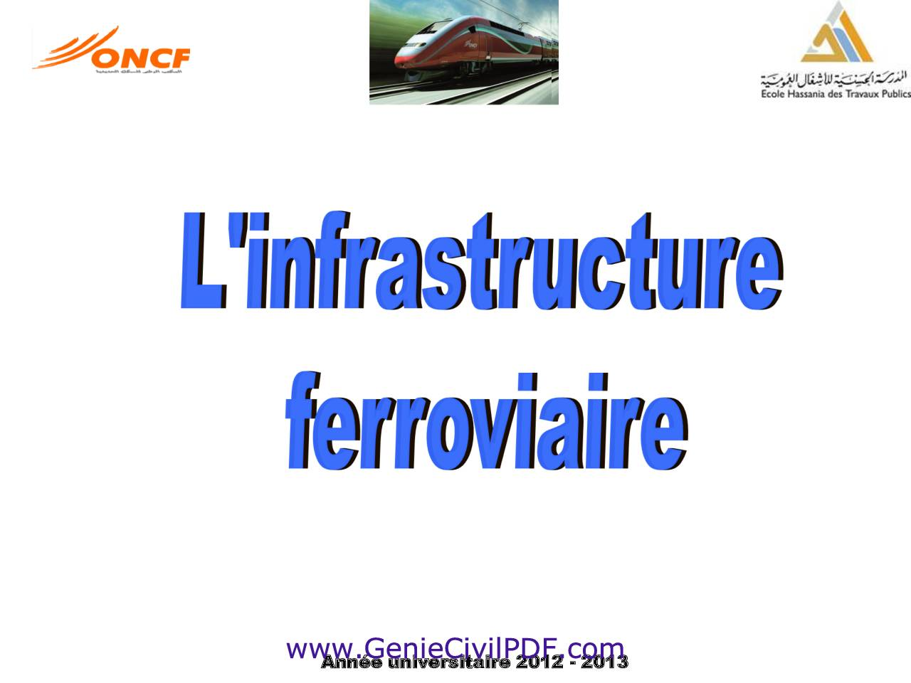 Cours L'infrastructure ferroviaire EHTP