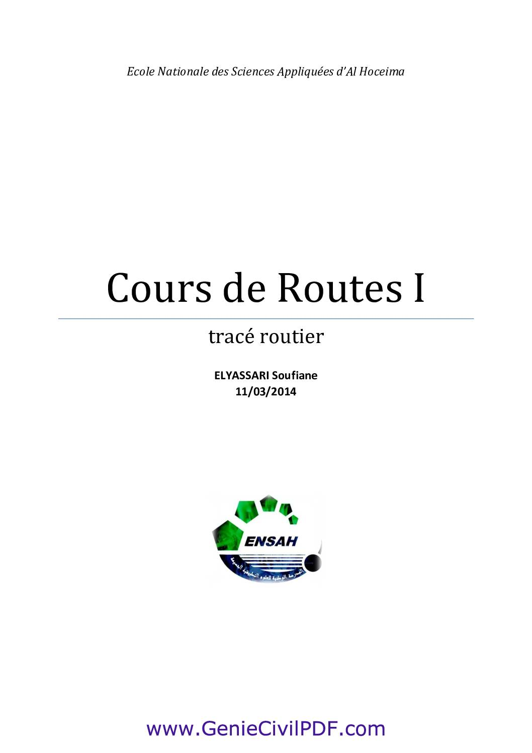 Cours Trace Routier