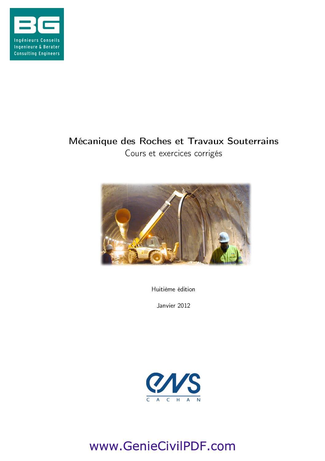 Mécanique des Roches et Travaux Souterrains