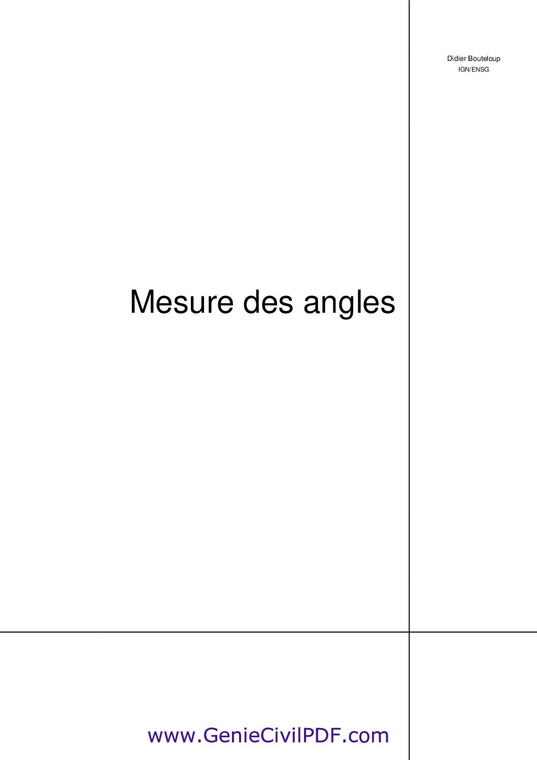 Mesure des angles
