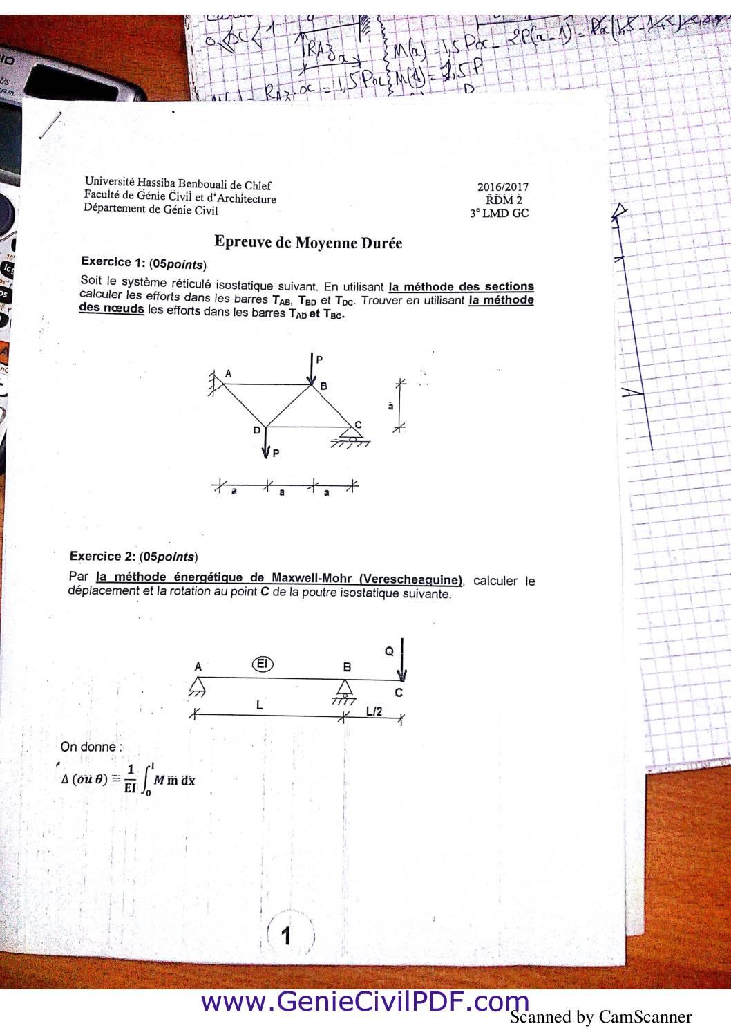 RDM examens solution