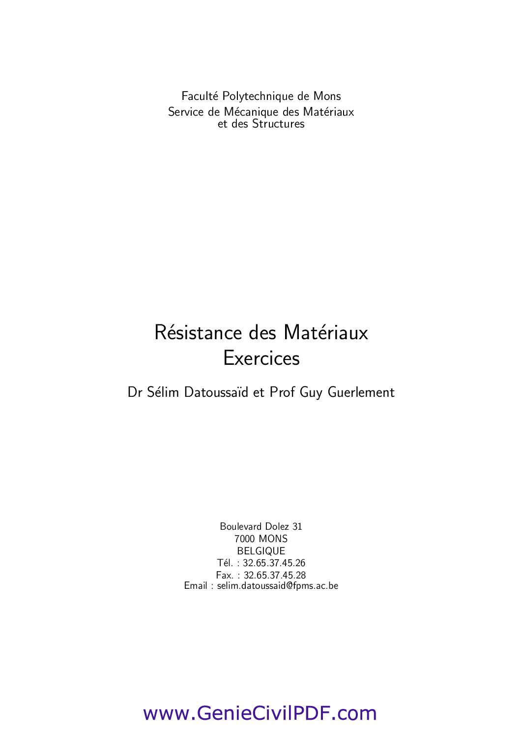 RDM exercices
