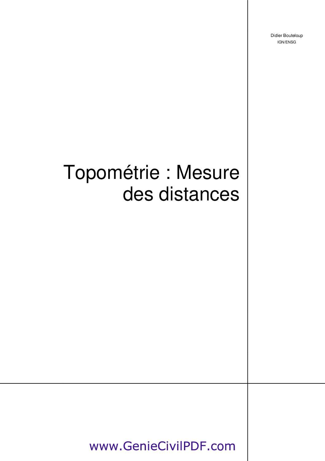Topométrie mesure des distances