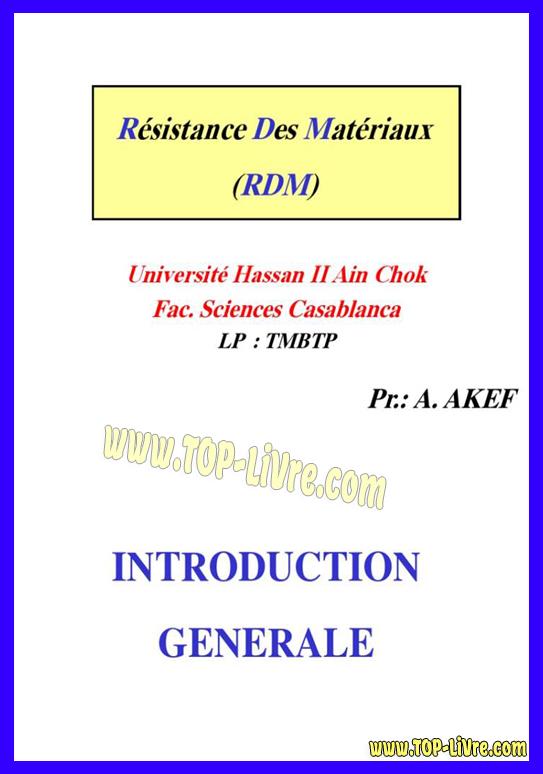 COURS RESISTANCE DES MATERIAUX