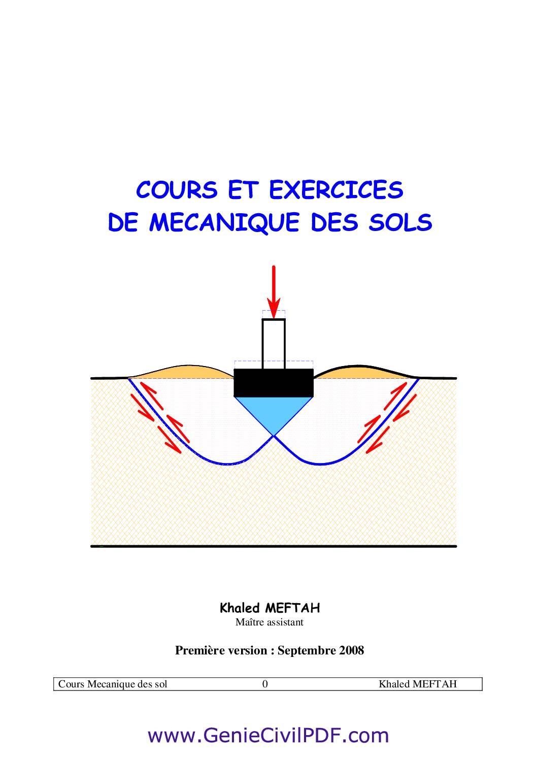 mécanique des sols+exercices