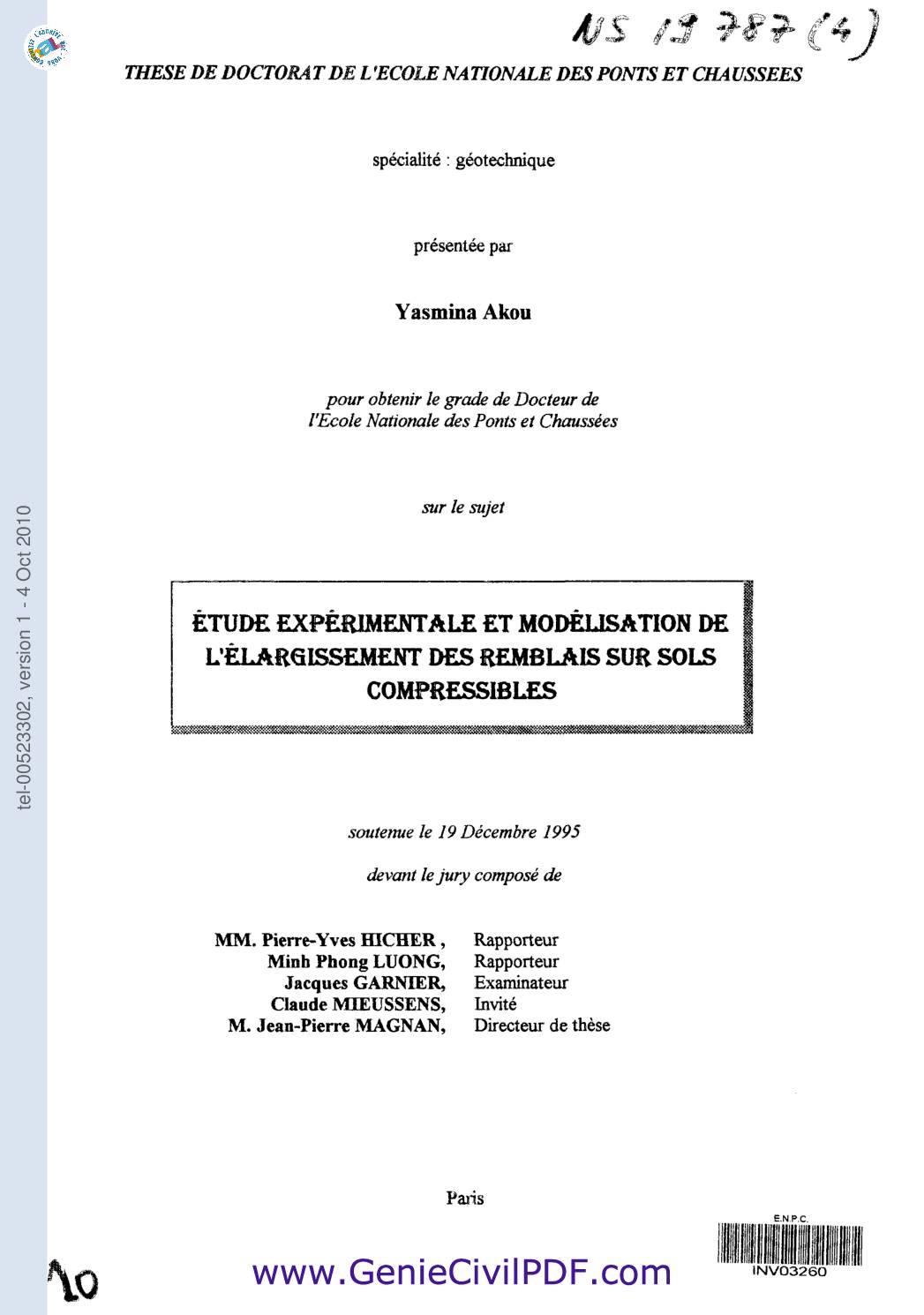 remblais sols compressibles (rupture+tassement)